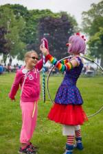Kiki the Clown Hula Hooping Toronto