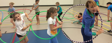 Education the physics of hula hooping