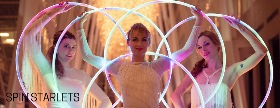 Spin Starlets with glowing hoops