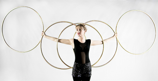 Isabella Hoops Solo Toronto performer