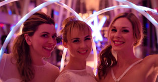 Spin Starlets with LED hula hoops